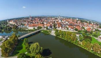 Die schwäbischen Donaustädte aus der Vogelperspektive