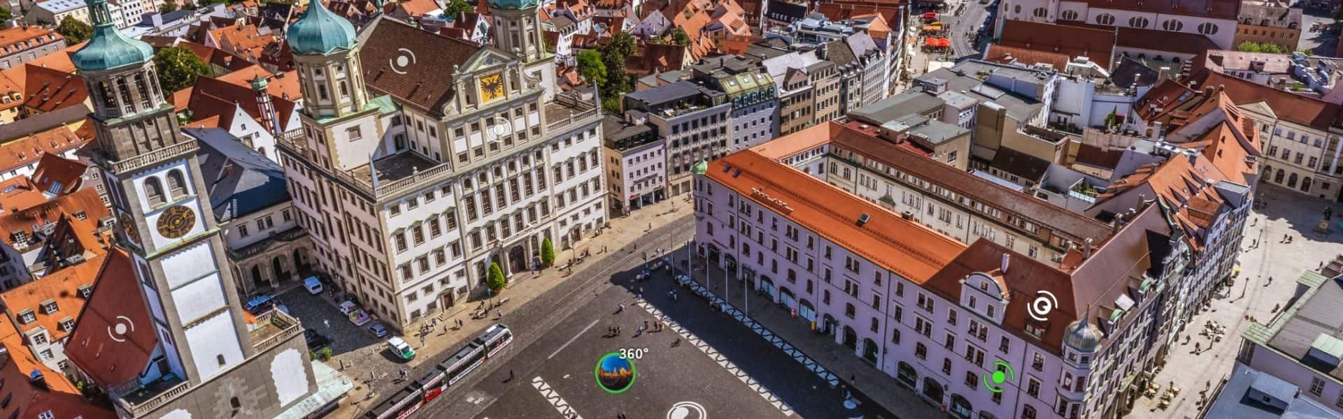 Panorama Tour von Augsburg