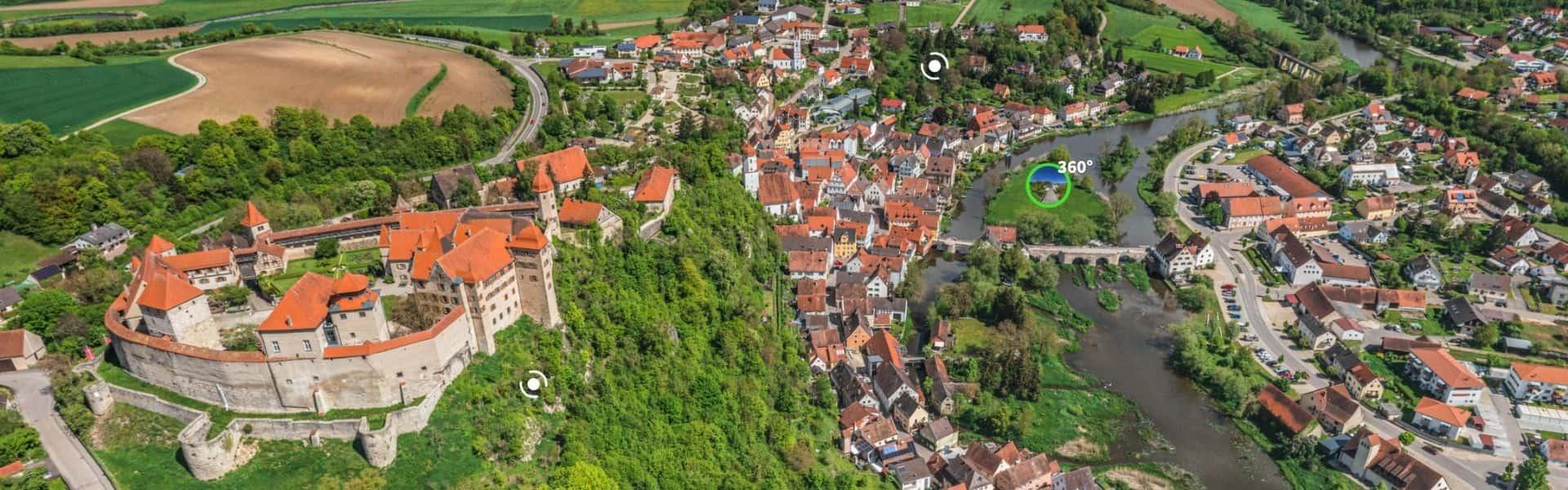 Harburg aus der Luft